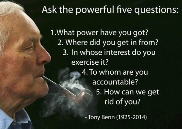 BENN, Tony 01 5 QUESTIONS